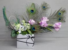 Peacock Holiday Flower Arrangement