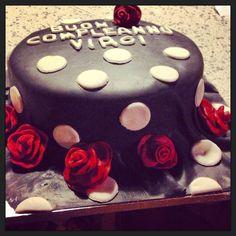 Cake pois & roses