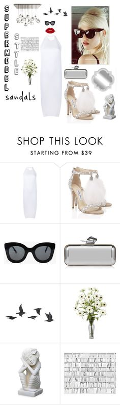 """""""Summer Sandals """" by kotnourka ❤ liked on Polyvore featuring Faustine Steinmetz, Jimmy Choo, CÉLINE, Jayson Home, NOVICA and summersandals"""