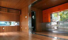 Conex Box Home Interiors | Bamboo lines most of the interior. bathroom wall...
