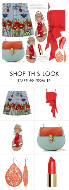 """""""i hate u, i love u"""" by fattie-zara ❤ liked on Polyvore featuring Gucci, MDS Stripes, Kate Spade, Chloé and Urban Decay"""