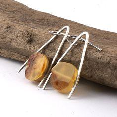Amber jewelry, amber baltic earrings, sterling silver earrings, orange amber, natural amber earrings, hammered silver, honey tones earrings