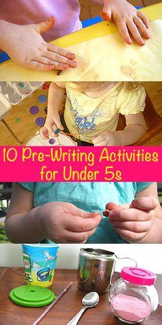 Literacy Spot 10 Pre-Writing Activities for Under Preschool Writing, Preschool Learning, Toddler Preschool, Early Learning, Toddler Activities, Kids Learning, Teaching, Everyday Activities, Preschool Ideas