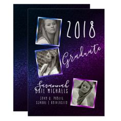 Modern Frame Grad Photo Graduation Announcement