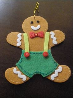 Flat Flet Christmas Gingerbread Man - Large - Ornament