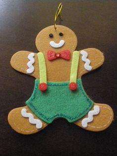 felt ornament - great gingerbread man!