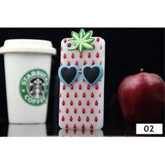 Victoria's Secret Pink 2014 Sommer Frucht Erdbeere Handyhülle Silikon Case für Iphone 4/4S/5/5S