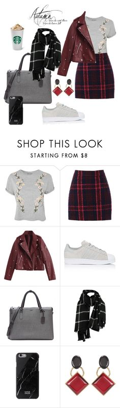 """""""Autumn"""" by mathildepl07 on Polyvore featuring Topshop, Oasis, adidas, Tumi and Marni"""