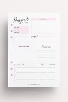Project Planner Homework Planner Assignment by IndigoPrintables