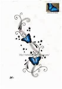 Tattoo Idea! Blue butterflies!!! I want this!