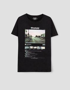 Pull&Bear - hombre - ropa - camisetas - camiseta fotográfica - negro - 05237521-I2016