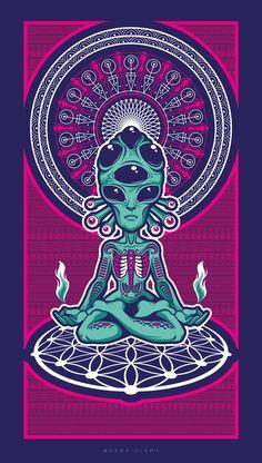 zen alien trippy psychedelic mandala scifi flower of life meditation Cartoon Wallpaper, Trippy Wallpaper, Alien Iphone Wallpaper, Arte Alien, Alien Art, Trippy Alien, Psychedelic Art, Dope Kunst, Les Aliens