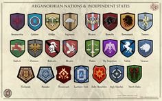 Nation and State Heraldry (Arganorh) by Levodoom on DeviantArt Fantasy Concept Art, Fantasy Rpg, Medieval Fantasy, Fantasy Artwork, Fantasy World, Dungeons And Dragons, Medieval Banner, Fantasy Faction, Skyrim