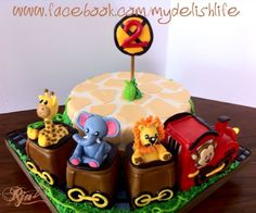Animal Train Cake Giraffe