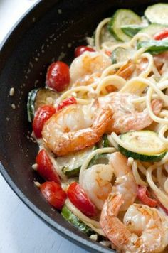 Creamy Shrimp Pasta with Seasonal Vegetables