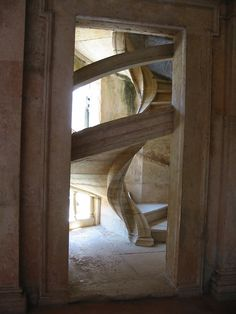 stone helical staircase    http://www.stairporn.org/2011/01/27/stone-helical/