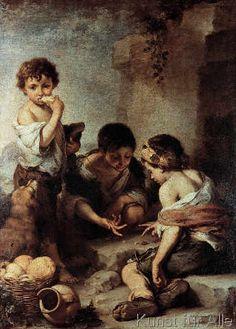 Bartolome Esteban Murillo - Beggar Children playing Dice