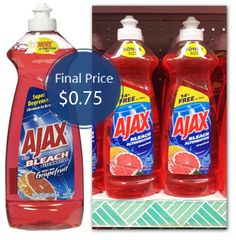 Ajax Dish Soap, Only $0.75 at Dollar Tree! - The Krazy Coupon Lady