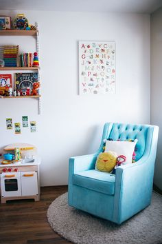 interior design: an eclectic nursery by calivintage