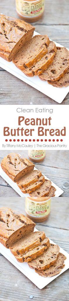 Clean Eating Recipes | Peanut Butter Bread | Grain Free Bread Recipes | Low Carb Bread #CleanEating #Bread #LowCarb #GrainFree