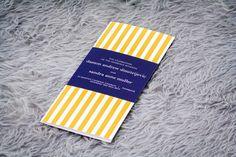 Nautical Wedding Programs, Striped Programs, Beach Wedding Programs, Modern Wedding Programs, Preppy Chic Design, by Julie Hanan Design on #etsy
