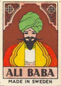 AliBaba - Sweden Matchbox Label