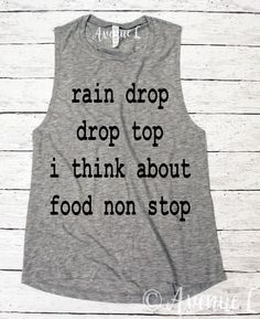I Think About Food Non Stop Muscle Tank - Popular Muscle Tank - Fun Workout Tanks here!    Vintage Graphic Tees. Our tees are super soft and cozy. You will want to live in them! Check out our other graphic tees and items here:  www.theavenuel.com    We ha