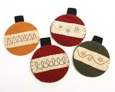 Light Bulb Christmas Ornament Craft | Set of 4 Christmas Bulb Ornament Coasters - Primitive Buyout ...