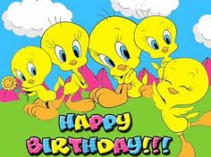 Cute Bird Quotes Happy 24 Ideas For 2019 Happy Birthday Cartoon Images, Happy Birthday Emoji, Happy Birthday Wishes, Birthday Greetings, Tweety Bird Quotes, Tree Tat, Birthday Card Sayings, Looney Tunes Cartoons, Birthday Blessings