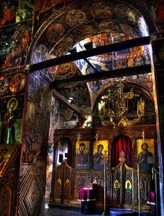 Interior of Meteora Monastery, Greece