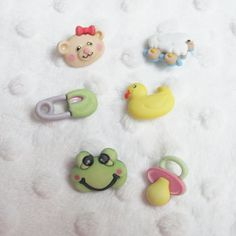 Wee Ones Baby Hugs Buttons Galore Novelty Designer Buttons 6 buttons on card by LaurelArts