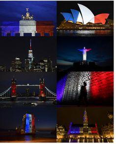 Hommage mondial aux couleurs du drapeau tricolore