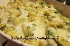 Le orecchiette gratinate al forno zucchine e stracchino sono una ricetta alternativa alle classiche versioni della pasta al forno al sugo.