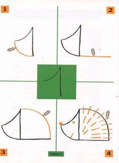 Libro Dibuja con las cifras - Todo Matemáticas - Àlbums web de Picasa * ako sa kreslí ježko z jednotky * Cartoon Drawings, Easy Drawings, Animal Drawings, Number Drawing, Directed Drawing, Numbers For Kids, Doodles, Drawing Projects, Art N Craft