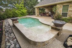 Inground pools for small yards pools small backyard - Swimming pools in college station tx ...