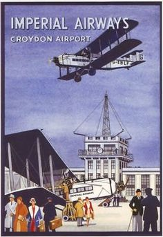 Vintage Croydon Airport Advertising A3 by VintagePosterShopUK