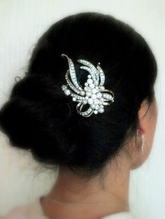 Maria  Vintage style Rhinestone and Freshwater by labellechanson, $26.00