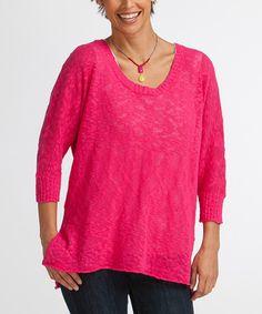 Look at this #zulilyfind! Tea Rose Crop Sweater #zulilyfinds