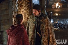 """Reign -- """"Mercy"""" -- Image Number: RE210a_0127.jpg -- Pictured (L-R): Kaitlyn Riordin as Sandrine and Sean Teale as Conde -- Photo: Ben Mark Holzberg/The CW -- © 2014 The CW Network, LLC. All rights reserved."""