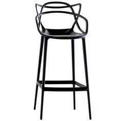 Masters stool, black, by Kartell.