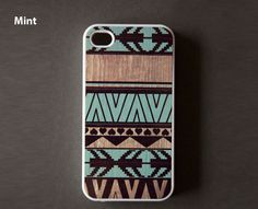 Geometric wood iPhone case.