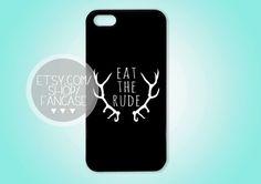 Eat the Rude Hannibal NBC Fannibal iPhone 4 4s 5 Case Will Graham Quote Hugh Dancy Mads Mikkelsen