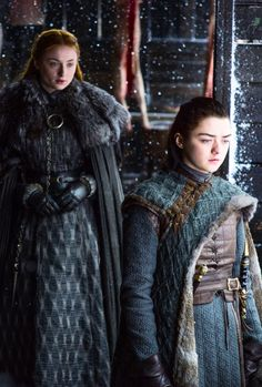 Sansa Stark and Arya Stark in Game of Thrones 7.06 (x)