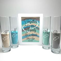 This Blended Family Wedding Sand Ceremony Shadow Box Set, Unity Candle Alternative, Together We Make a Family, Blended Family Sand Frame and Sand is just one of the custom, handmade pieces you'll find in our weddings shops. The Wedding Date, Wedding Ceremony, Sand Unity Ceremony, Wedding Unity Ideas, Wedding Rustic, Unity Sand Wedding, Wedding Tips, Wedding Beach, Reception