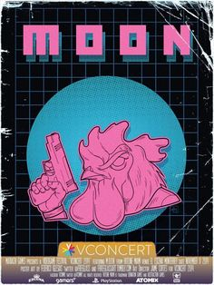 This was the process involved in designing Hotline Miami's MOON Poster for…
