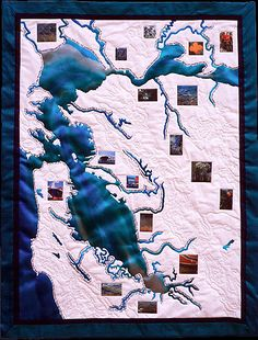 """Geography of Hope: San Francisco Bay, 25 x 32"""", by Linda Gass"""