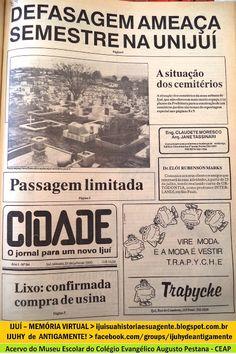 IJUÍ - RS - Memória Virtual: A situação dos cemitérios em Ijuí, no ano de 1990....