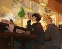 oekaki-chan: Drawing details and background is... - stuff and things