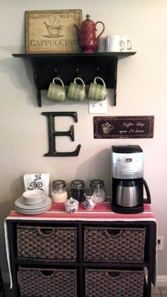 Coffee bar cute.  This would be nice for a party or post-dinner with friends, but I would not waste space on something like this