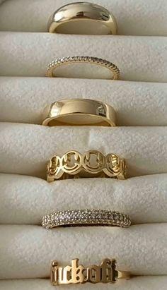 Trendy Accessories, Trendy Jewelry, Cute Jewelry, Jewelry Accessories, Fashion Jewelry, Cute Rings, Pretty Rings, Nail Jewelry, Gold Jewelry